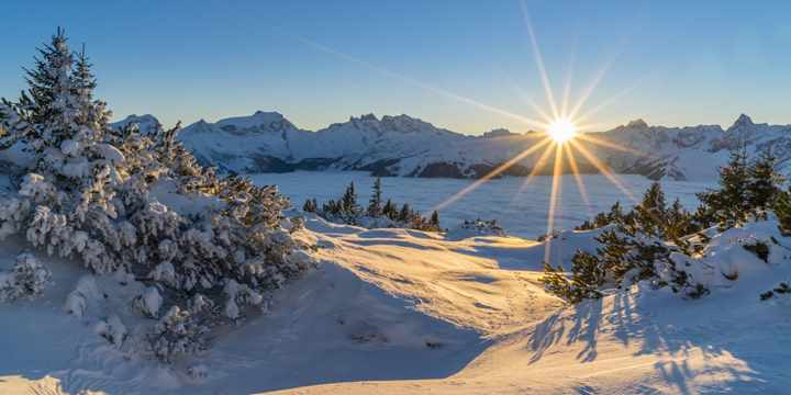 Wintersonne in Tirol